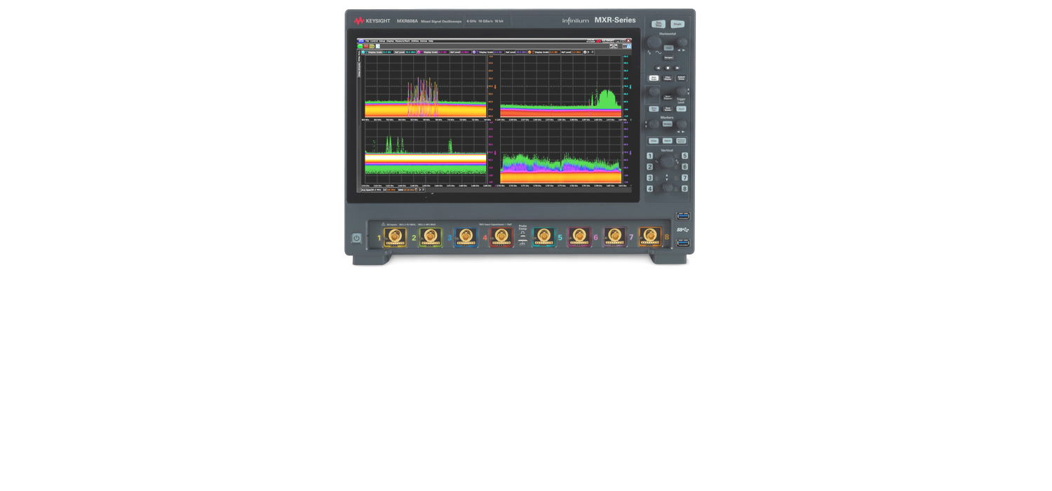 See more, do more and save time with NEW Keysight Infiniium MXR-Series, the world's first 8-Channel RTSA Oscilloscope