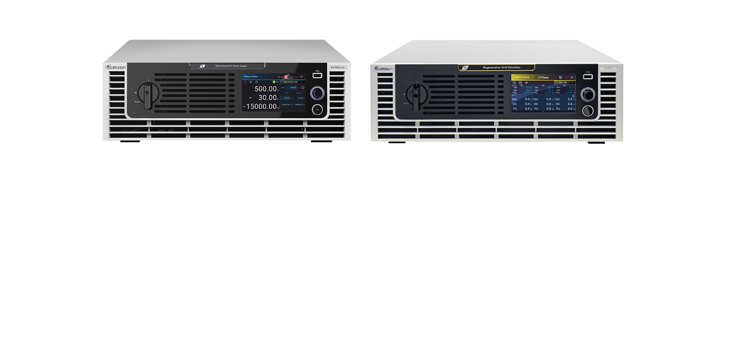 Perfect power duo – DC and AC regenerative power supplies Chroma 62000D & Chroma 61800